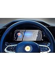 CDEFG voor V W Golf 8 beschermfolie auto navigatie glas 9H krasbestendig anti-vingerafdruk folie 10,25 inch GPS transparant displaybeschermfolie (instrumentenbord)
