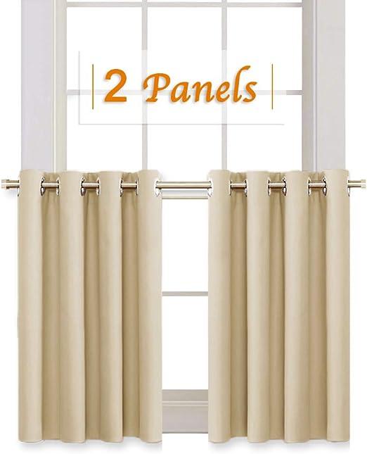 Amazon Com Ryb Home Room Darkening Curtain Tiers For Bedroom