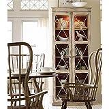 Hooker Furniture Sanctuary Two Door Thin Display Cabinet in Dune