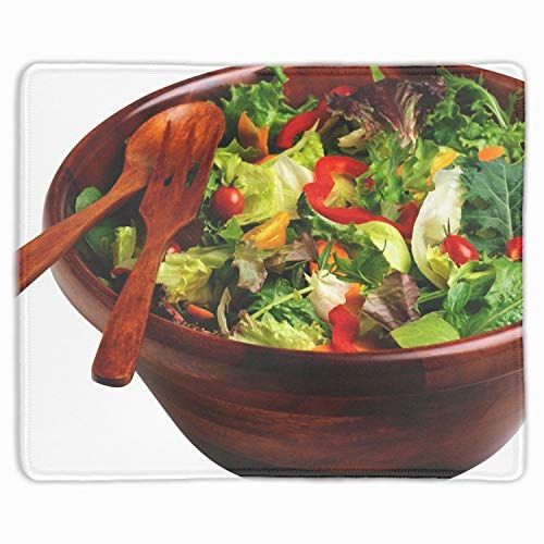 """Salad Vegetable Dish Devices Mouse Pad Designed Gaming Mouse Pad 9.9""""x11.8"""" Thickness"""