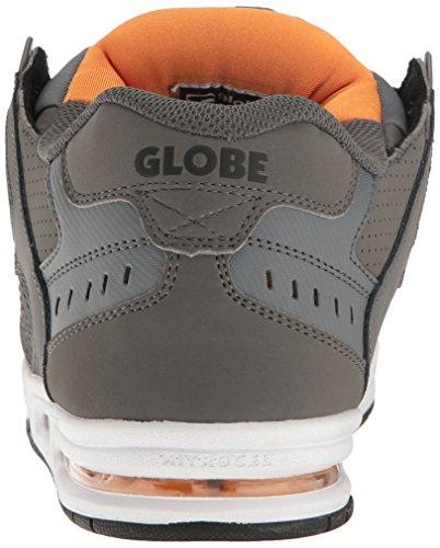 Globe Sabre, Herren Schuhe , grau - Shadow/Pewter/Orange - Größe: 43