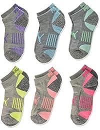 PUMA girls PUMA Girls' 6 Pack Low Cut Socks Socks