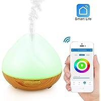 Wi-Fi Humidificador difusor de aceite esencial 400ml-Amazon Alexa