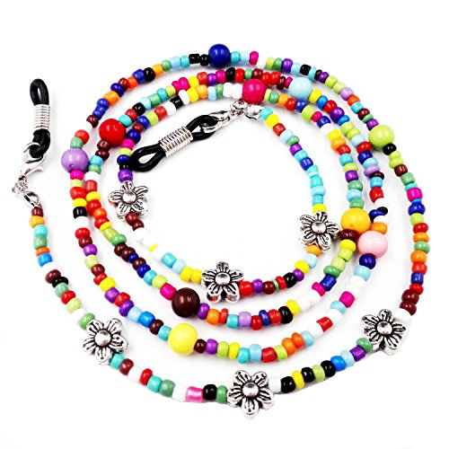 Kalevel Eyeglass Chain Rainbow Beaded Eyeglass Chains Eyeglasses Sunglass Holder