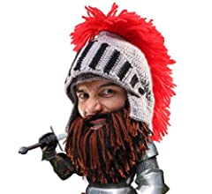 099707ae66e Amazon.com  Beard Head Knight Beard Beanie - Funny Knitted Helmet ...