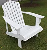 White Painted Chestnut Oak Outdoor Patio Backyard Adirondack Chair Lounger