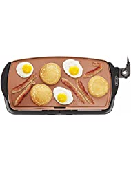 "BELLA (14606) Copper Titanium Coated Non-Stick Electric Griddle, 10.5"" x 20"""