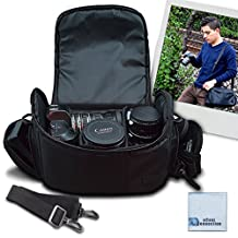 Large Digital Camera / Video Padded Carrying Bag / Case for Nikon D5100, D5200, D5300, D5500, D7000, D7100 Camera & More . . . + Microfiber Cloth