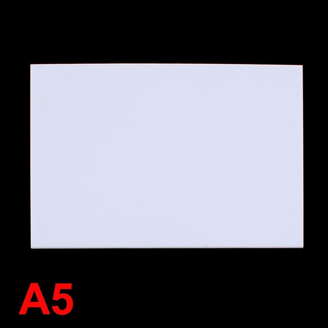 2mm en plastique blanc acrylique Plexiglas Plexiglas Fiche A5 Taille 148mmx210mm