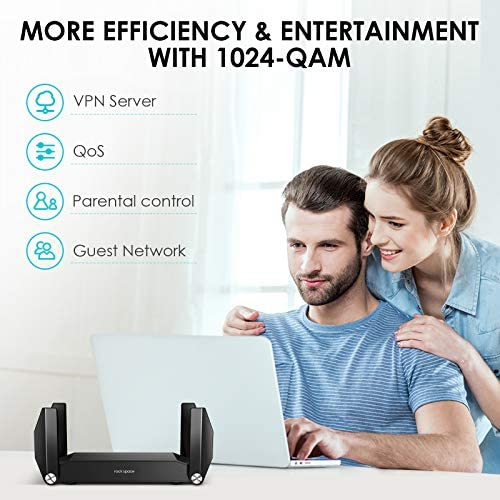 WiFi 6 Router - WiFi Router,AX1800,Computer Routers,Wireless Router,Dual Band Router 802.11ax Router,MU-MIMO,OFDMA,WAN Port,4xGigabit LAN Ports,USB 3.0, WPS, Online Gaming/4K Video Streaming