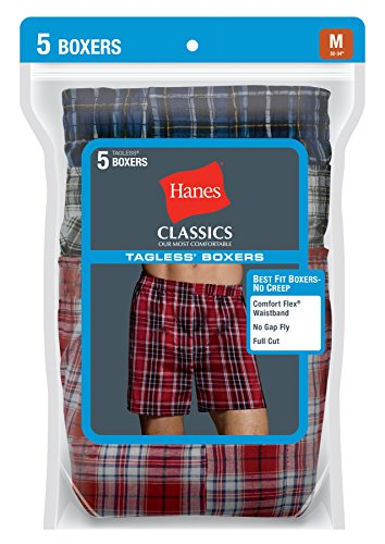 Hanes Men's Five-Pack Ultimate Tartan Boxers