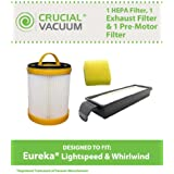 Filter Kit for Eureka Lightspeed Whirlwind Vacuums; Compare to Eureka Part Nos. 61825, 62136, 62136A, 61830, 61830A & 61840; Designed & Engineered by Think Crucial