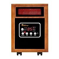 Calentador portátil portátil con calefacción de infrarrojos, 1500 vatios