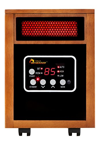 Dr Infrared Heater Portable Space Heater, 1500-Watt (Best Portable Electric Heater For Large Room)