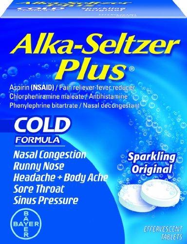 Alka-seltzer Plus Cold Medicine Effervescent Tablets, 48-Count