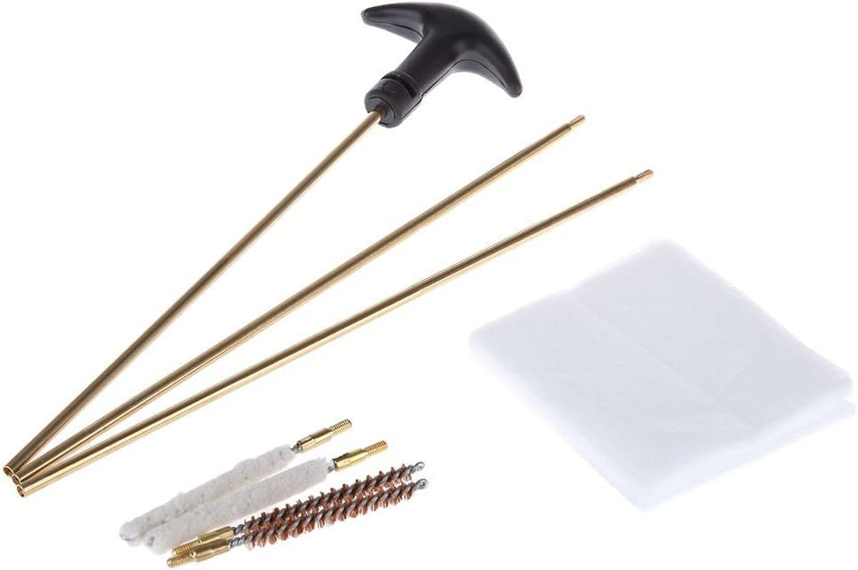 Noga Pistol Hunting Gun Cleaning Tool Kit Accessories Rifle Gun Brush Mop Storage Handle for Cal.4.5/5.5mm : Sports & Outdoors