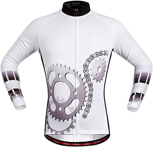 Jersey ciclismo masculino Maillot de ciclismo for hombre Camisa de bicicleta de montaña de manga larga for mujer MTB Bolsillos con cremallera superior con tira reflectante Confort suave y transpirable: Amazon.es: Hogar