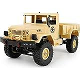 R/C Rock Crawler Radio Control Vehicle, 1/16 Scale 130 motor 4WD Trail Crawler with 2.4GHz Radio