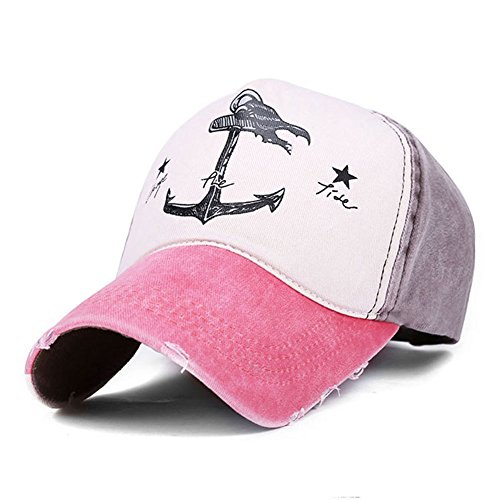 Superhappy Vintage Style the Pirate Ships Anchor Printing Multicolor Adjustable Baseball Cap Watermelon Red & Brown (Pirate Hat Styles)