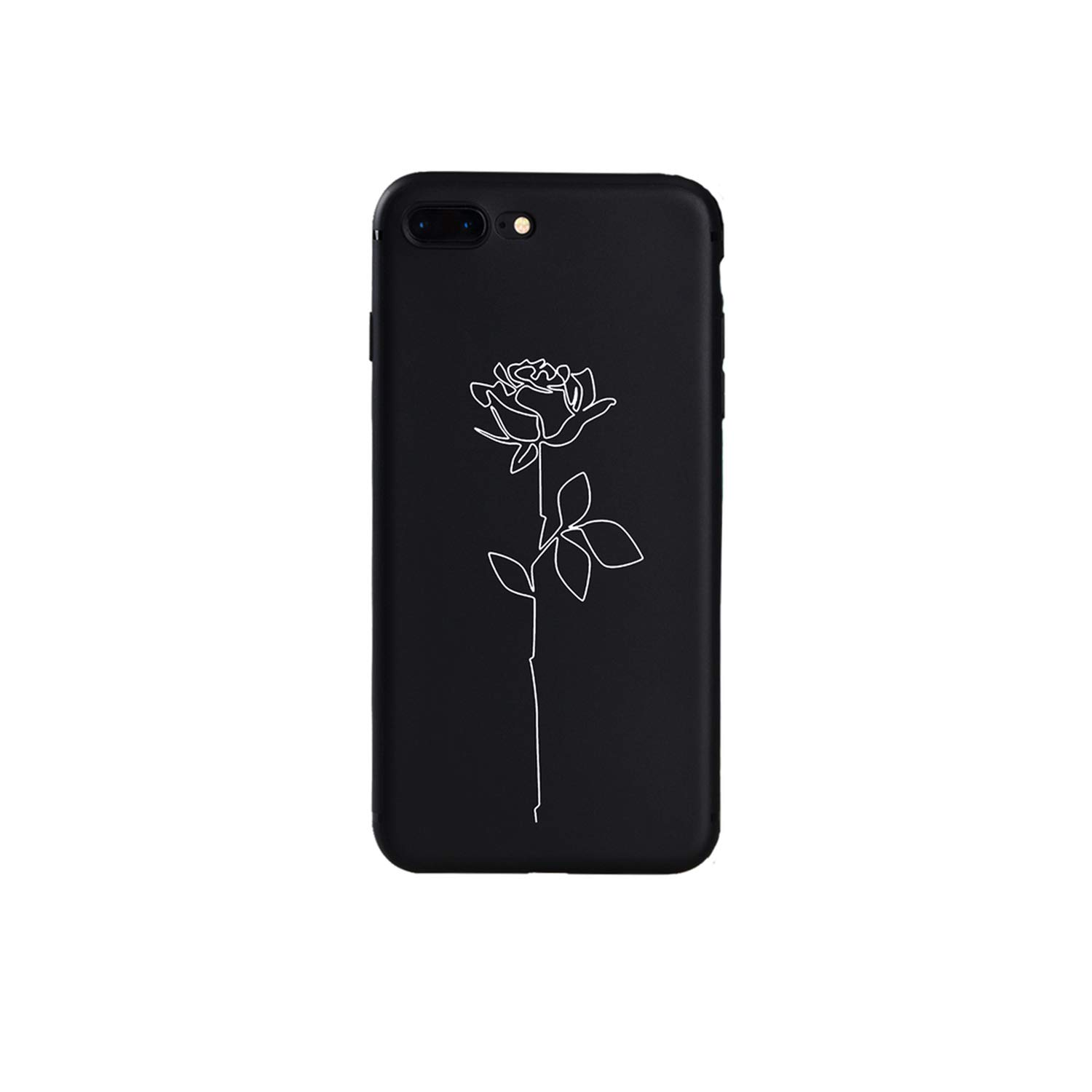 Amazon.com: Modern Art Simple Line Hand Rose Girl Body Soft ...