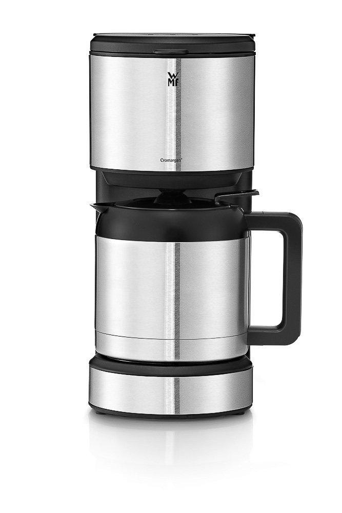 WMF Stelio Aroma Cafetera de 1000 W con jarra térmica de 1 L para 8 tazas e indicador de nivel de agua en el exterior, acabados de acero inoxidable de Cromargan mate, antigoteo,