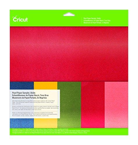 Cricut 2003512 Pearl Paper Sampler, Bolds, 12X12,