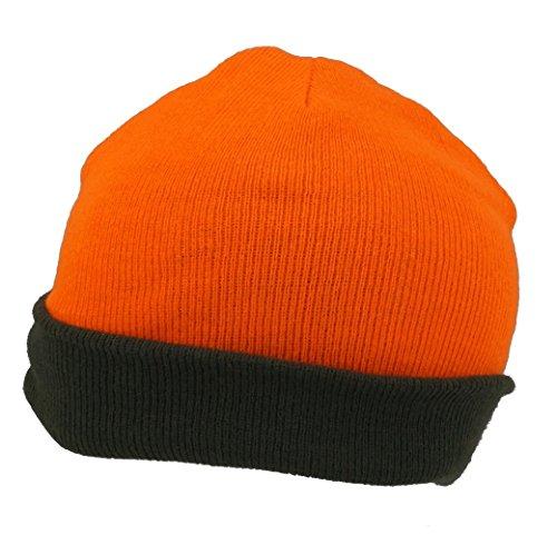 Lodenhut - Gorro de Punto - para Hombre Naranja Naranja