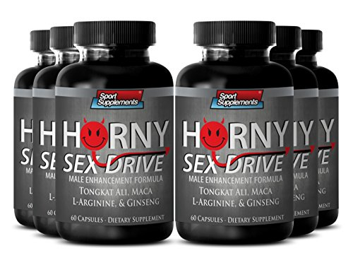 Sex Drive for Men - Horny Sex Drive - Herbal Libido Booster with Supreme Horny Sex Drive Enhancement (6 Bottles 360 Capsules) by Sport Supplement