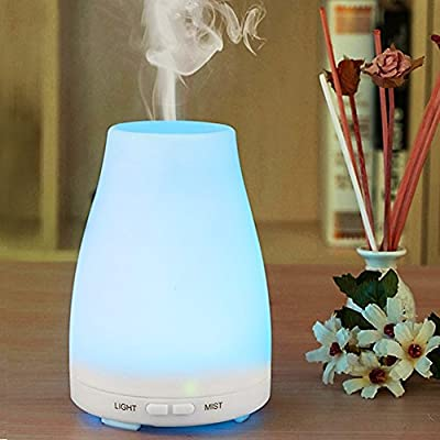 Aroma Diffuser 100ML Essential oil Diffuser Electric Ultrasonic Humidifier Aromatherapy Cool Mist Humidifier Air Purifier with 7 Color LED Lights