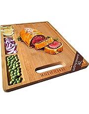 HHXRISE Organic Bamboo Cutting Board For Kitchen