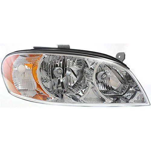 2027599 Headlight for SPECTRA 02-04 RH Assembly Halogen Sedan 1st Generation (Early Design) With Bulb(s) Passenger Side ()