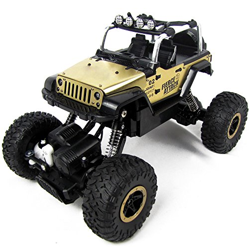 /18 Scale Electric RC Car Offroad 2.4Ghz 2WD High Speed 35+MPH Remote Controlled Car Truck-Yellow ()