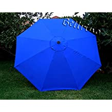 """BELLRINO DECOR Replacement ROYAL BLUE """" STRONG & THICK """" Umbrella Canopy for 9ft 8 Ribs (Canopy Only)"""