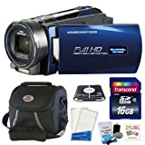 Bell and Howell DNV16HDZ-BL Full Infrared Night Vision Camcorder in Blue + 16GB Accessory Kit