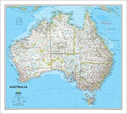 Australia Classic Tubed National Geographic Reference Map - Amazon maps
