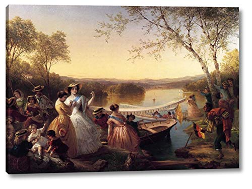 Reminiscences of Lake Mahopac, New York: Ladies Preparing for a Boat Race by Louis Lang - 16