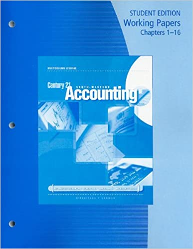 Amazon working papers chapters 1 16 for gilbertsonlehmans working papers chapters 1 16 for gilbertsonlehmans century 21 accounting multicolumn journal 9th 9th edition fandeluxe Gallery