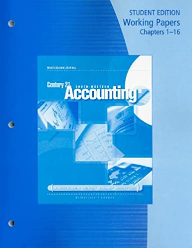amazon com working papers chapters 1 16 for gilbertson lehman s rh amazon com Computer Simulation Computer Accounting