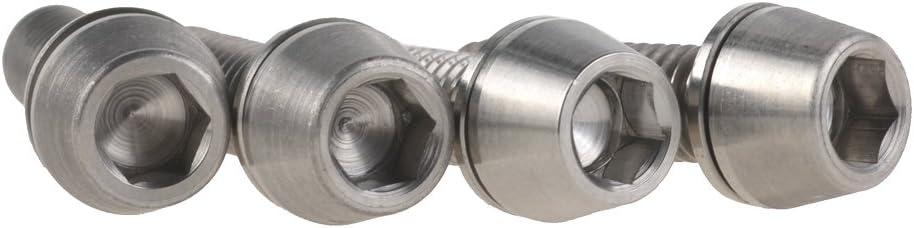 wanyifa titanio Ti bicicleta M6/x 20/mm Hex c/ónica pernos de freno de disco para la cabeza fija con arandelas 4/unidades