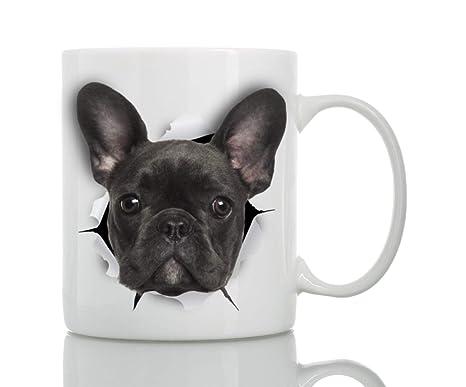 Amazon.com: Taza de cerámica con diseño de bulldog francés ...