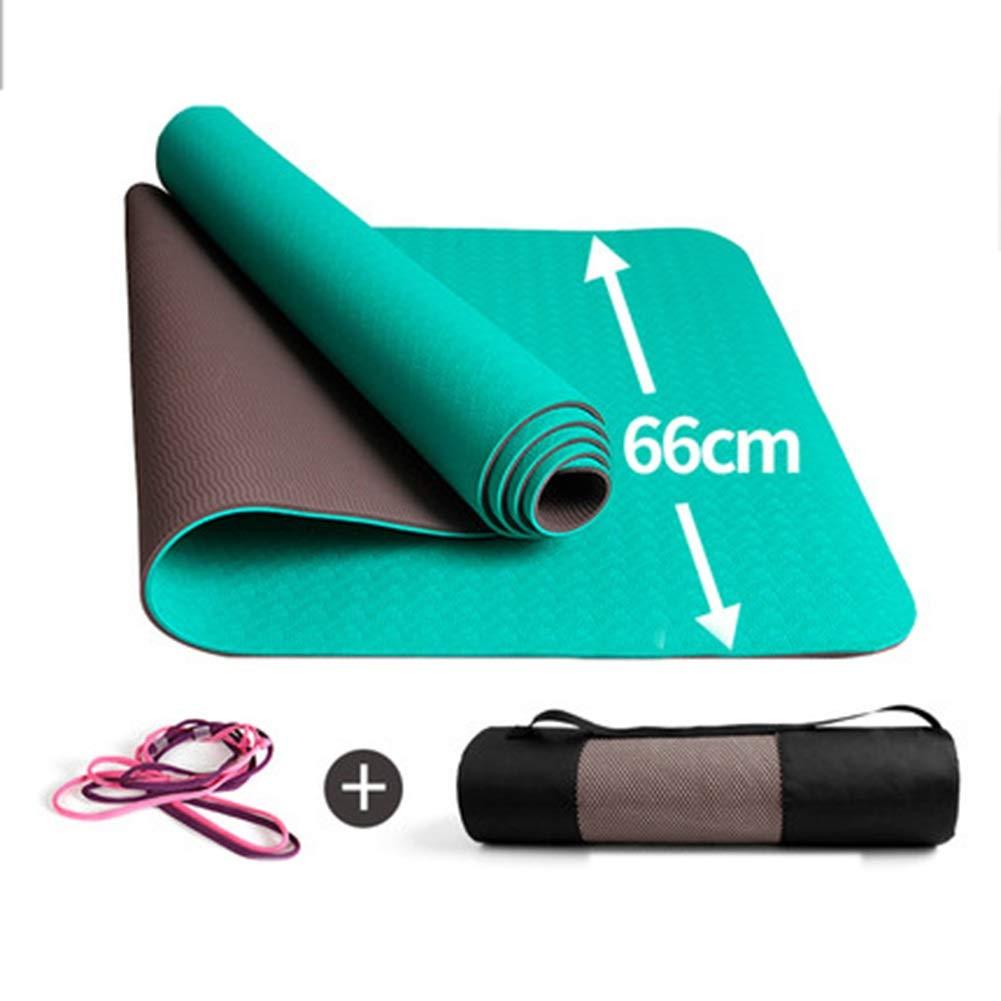 PANGU-ZC ヨガマットフィットネスジムエクササイズキャンプ有酸素アクセサリーマットストレッチ中に膝の痛みを避ける -8246 ヨガマット (色 : 紫の, サイズ さいず : 8MM) B016NVJ05U 6MM|緑 緑 6MM