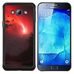 Stuss Case / Funda Carcasa protectora - Cielo rojo - Samsung Galaxy A8 A8000