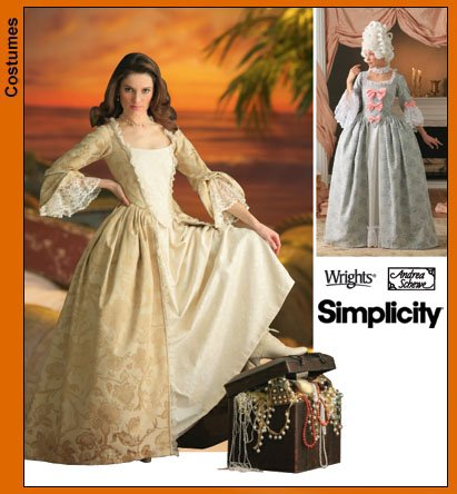 17 Century Costume Patterns - Simplicity 4092 Sew Pattern Misses' 18th Century Costume PLUS SIZE 14-20