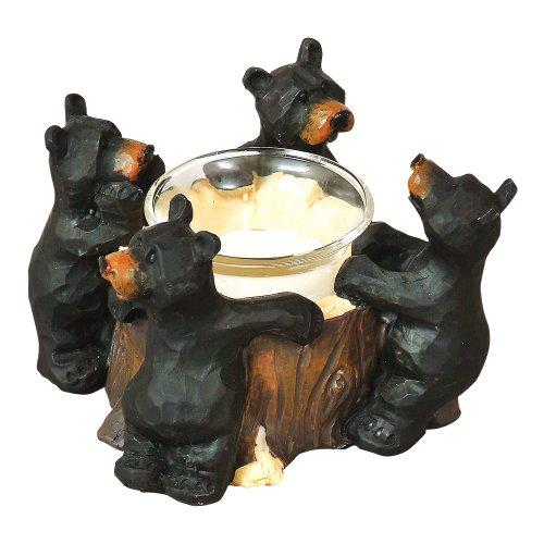 dge Holder - Lodge Decor (Bear Votive Holder)