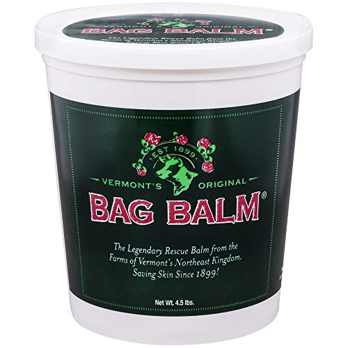 Vermont's Original Bag Balm Animal Ointment, 4.5lb Pail, for Dry Chapped Skin Conditions Lanolin-Based Helps Keep Skin Smooth and ()