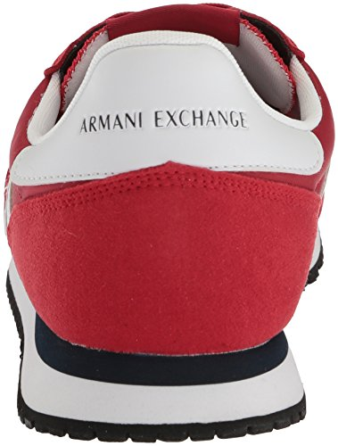 A | X Armani Exchange Mens Retro Running Sneaker Moda Sneaker Peperoncino