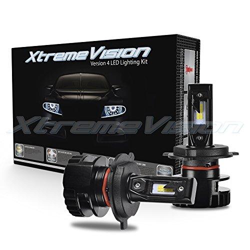 (XtremeVision V4 32W 4,800LM LED Bulb - H4/9003 Dual Beam LED Headlight Kit - 6500K Korea CSP LED - Fanless Design - 2019 Model)