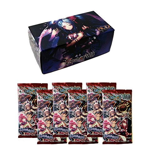 Night Booster (Force of Will TCG Bundle: 6 Reiya Cluster Ancient Nights Booster Packs + FOW Storage Box)