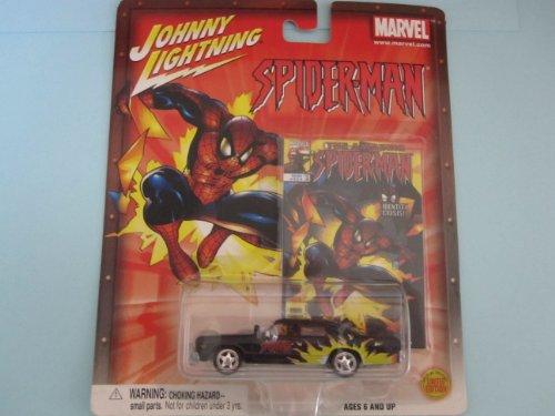 Spiderman Dodge Monaco- By Johnny Lightning-black/flames