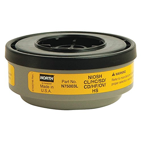 Respirator Cartridge, Yellow, Pr